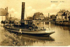 Le port d'Hautmont jadis