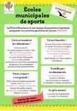 Écoles municipales de sports 2018-2019